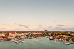 Tropical Harbor On Aruba, Oranjestad Stock Photos