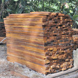 Tropical hardwood timber Royalty Free Stock Photo