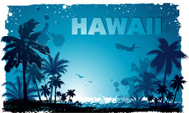 Tropical hawaiian background. EPS 10 Stock Photography