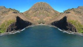 Tropical Hawaiian Bay Mirrored. Time Lapse of Bay in Hawaii stock video