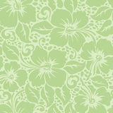 Tropical Hawaiian hibiscus floral seamless pattern Royalty Free Stock Photography