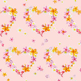 Tropical Hearts Flowers Backgrounds Royalty Free Stock Images
