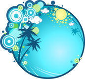 Tropical holiday. Simple and elegant background Royalty Free Stock Photo