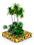 Tropical holiday concept Royalty Free Stock Image