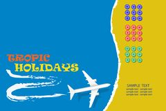 Tropical holidays blank concept vector stock images