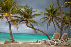 Tropical holidays, luxury resort on the beach Stock Photography