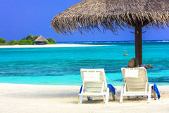 Tropical holidays - Maldives Stock Photography