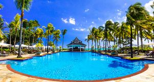 Relaxing tropical holidays  in Mauritius island Stock Photo