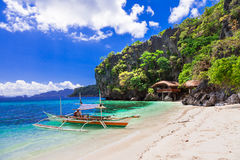Tropical holidays - unique nature and beautiful beaches of Phili Stock Image