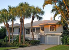Tropical home. A beautiful single residential tropical southern home Stock Photography