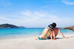 Tropical honeymoon Stock Images