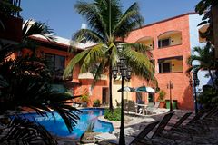 Tropical Hotel Stock Photography