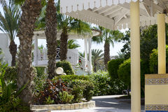 Tropical hotel on the Atlantic Ocean in Agdir Royalty Free Stock Image