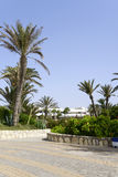 Tropical hotel on the Atlantic Ocean in Agdir Royalty Free Stock Photography
