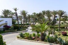 Tropical hotel on the Atlantic Ocean in Agdir Stock Photo