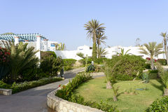 Tropical hotel on the Atlantic Ocean in Agdir Stock Image