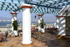 Tropical hotel on the Atlantic Ocean in Agdir Stock Photo