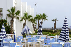 Tropical hotel on the Atlantic Ocean in Agdir Stock Photography
