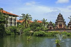 Tropical hotel in Bali, Indonesia Royalty Free Stock Photo