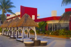 Tropical hotel in Mexico Stock Photography