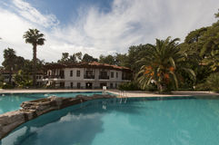 Tropical hotel in Mugla Stock Images