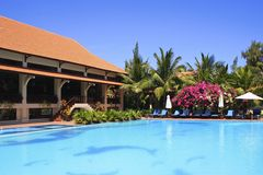 Tropical hotel in Phan Thiet, Vietnam Stock Images