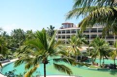 Tropical hotel. In Sri Lanka Stock Photos