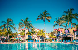 Tropical hotel. With swimming pool Stock Photography