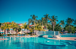 Tropical hotel. With swimming pool Stock Photo