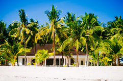 Tropical house on the beach of bantayan island, Santafe philippines, 08.11.2016 Stock Images