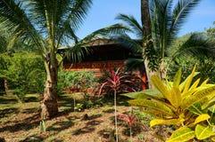 Tropical house and garden Stock Photos