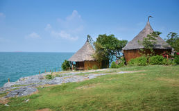 Tropical house at Ko Si Chang island in Thailand Royalty Free Stock Photography
