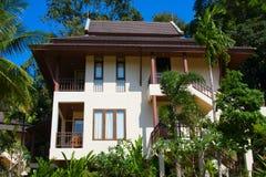 Tropical house by the sea. Tropical beach house on the island Koh Samui, Thailand Stock Photo