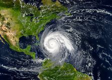 Tropical hurricane approaching the USA.Elements of this image ar. E furnished by NASA vector illustration