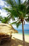 Tropical hut. View of nice exotic bamboo hut on tropical beach Stock Photography