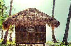 Tropical hut. Tropical bamboo hut Stock Photo