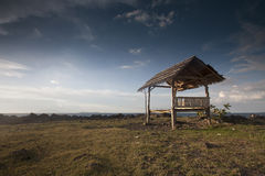 Hut at the Beach Indonesia Stock Image