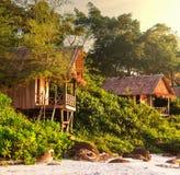 Tropical huts Royalty Free Stock Image