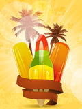 Tropical ice lollies Royalty Free Stock Photo