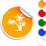 Tropical  icon. Stock Image