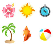 Tropical Icon Set Stock Photos