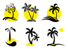 Tropical  icons. Royalty Free Stock Photo
