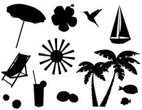 Tropical icons Royalty Free Stock Photo