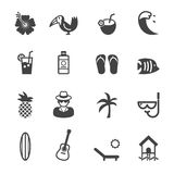 Tropical icons Royalty Free Stock Image