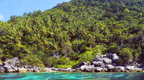 Tropical iisland Koh Nang Yuan, Thailand. Royalty Free Stock Images