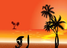 tropical illustration Stock Images