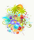 Tropical illustration Royalty Free Stock Photography