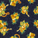 Tropical image in a pattern, Stock Photo