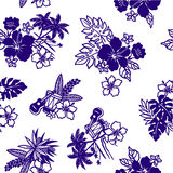 Tropical image pattern, Royalty Free Stock Images