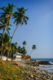 Tropical Indian village  in Varkala, Kerala, India Royalty Free Stock Photos